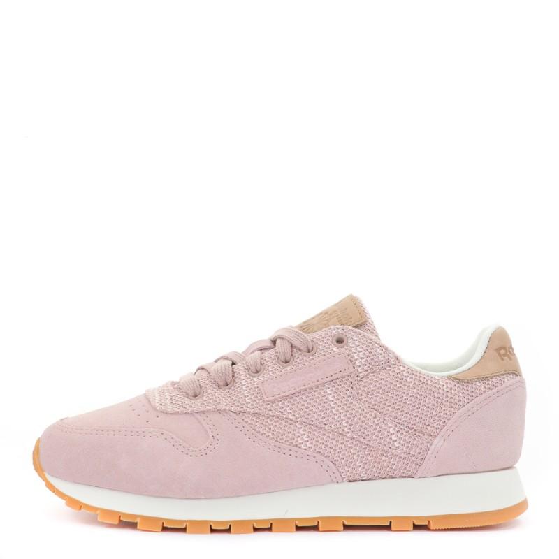 1731f3ab939f2 Classic Leather EBK Chaussures femme Reebok rose   Espace des Marques