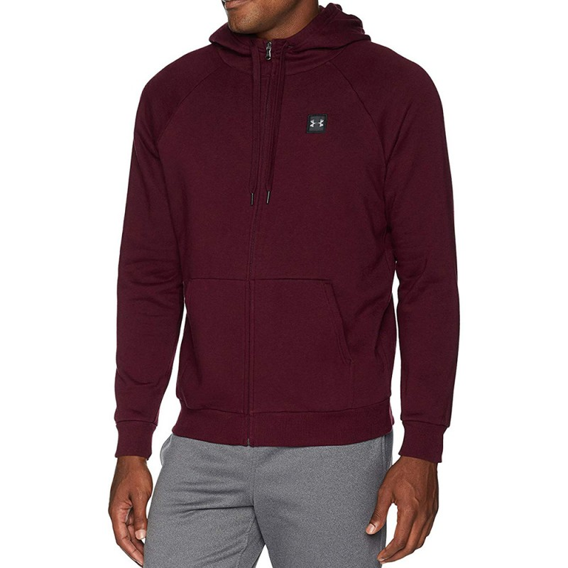 60% pas cher haut de gamme authentique choisissez le dégagement Rival Fleece Homme Sweat Zippé Bordeaux Under Armour