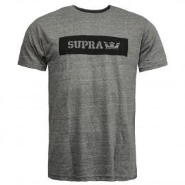 T-shirt gris Supra Logo