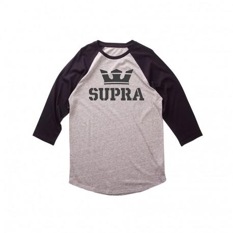 T-shirt homme manche 3/4 Supra Above gris