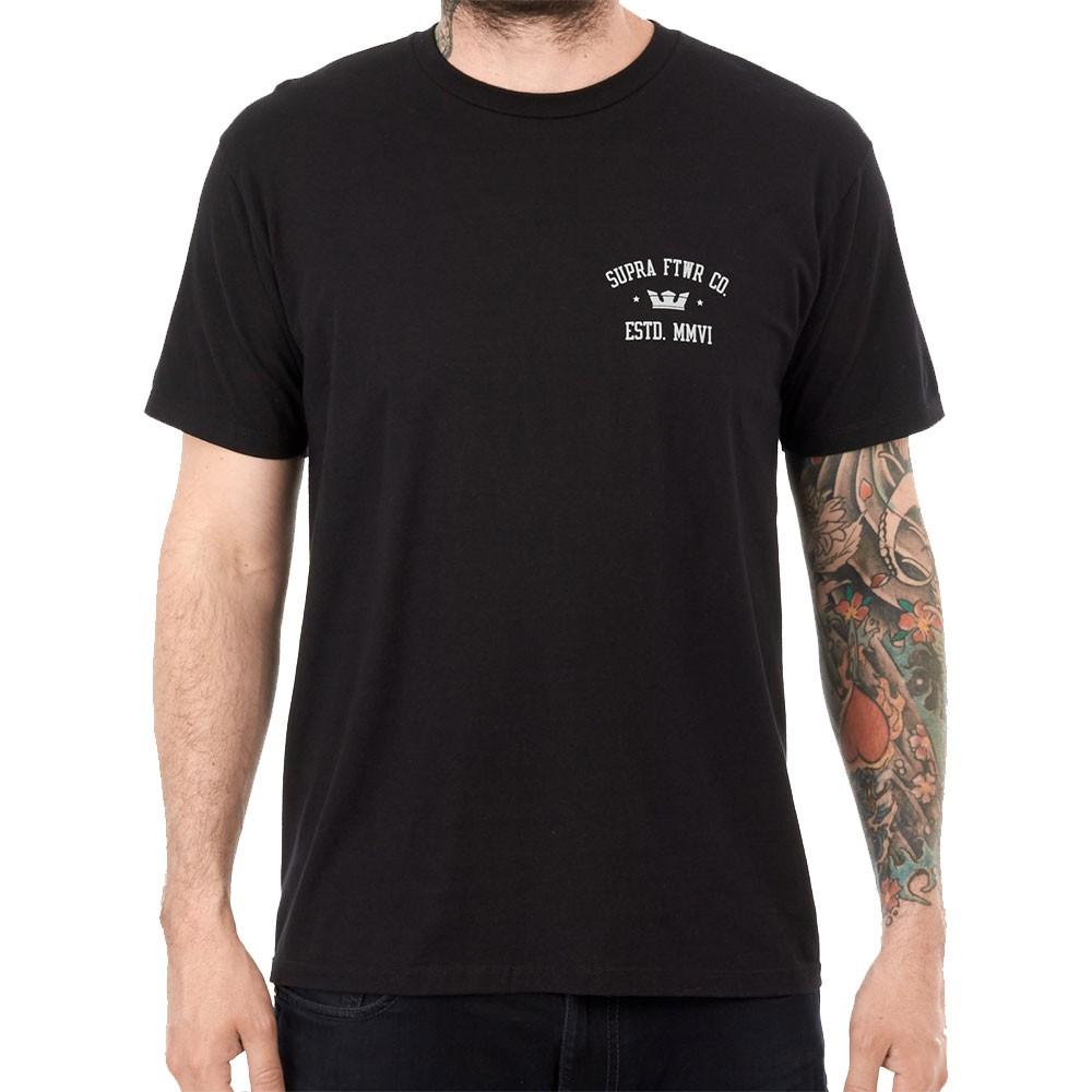 T-shirt noir homme Supra Contender