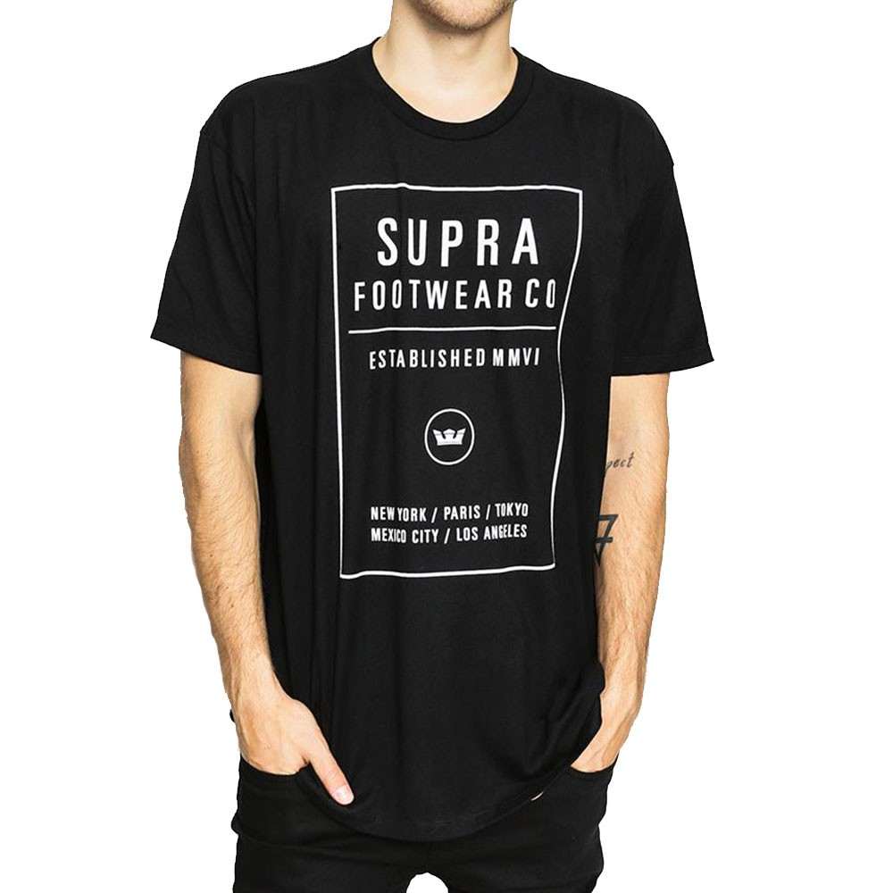 T-shirt blanc homme Supra Quad
