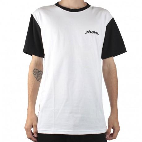 T-shirt blanc/noir homme Supra Sketchscript