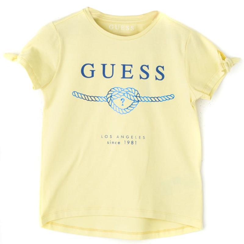 87677b6fb30db Tee-shirt Fille Jaune Guess
