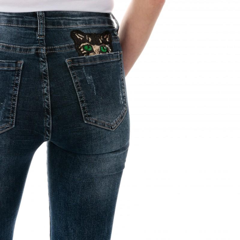 Femme Bleu Monday Jean Premium Pantalon 0PwkO8n