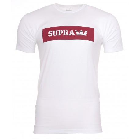 T-shirt Blanc Homme  Supra