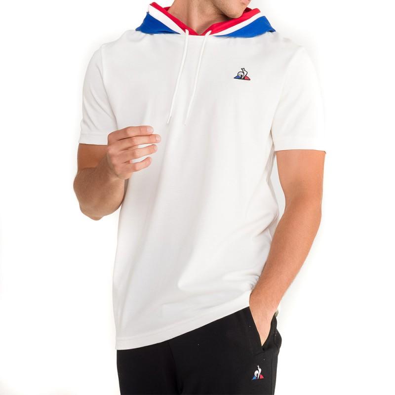 Tee-shirt Blanc Homme le Coq Sportif Avant