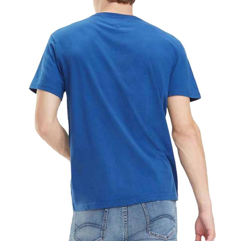 T-shirt bleu Homme Tommy Hilfiger devant