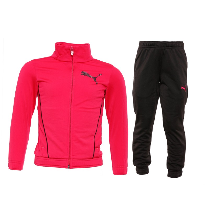 Survêtement rose/noir Fille Puma pas cher