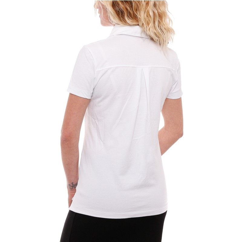Polo-blanc-Femme-Le-Coq-Sportif-pas-cher