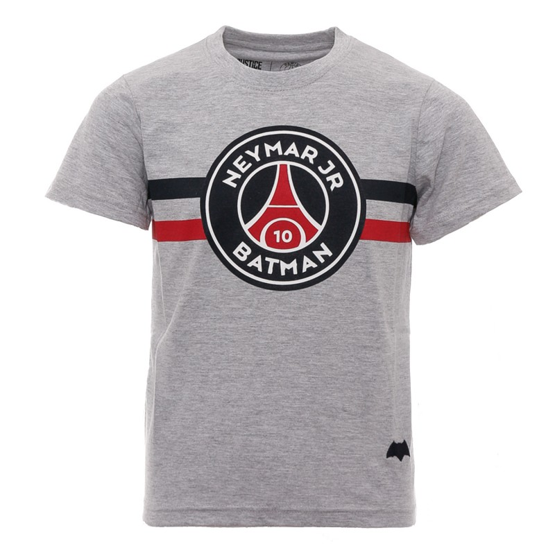 neymar jr t shirt gris enfant psg x justice league. Black Bedroom Furniture Sets. Home Design Ideas