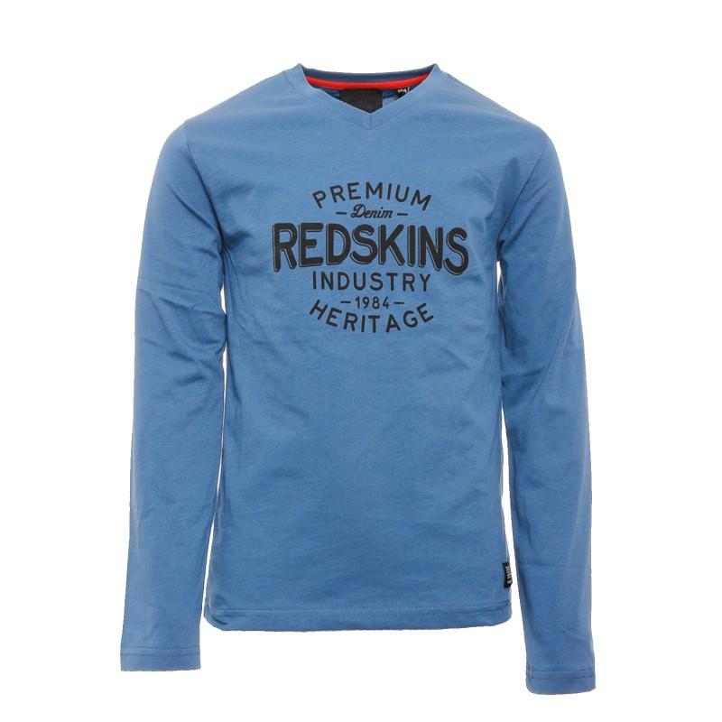 e8d1bc989e4ce T-shirt manche longue Bleu Enfant Redskins pas cher