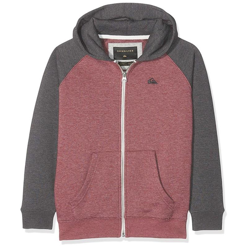 plus grand choix de acheter mieux magasin Sweat zippé Quiksilver Garçon rouge Pas cher | Espace des Marques