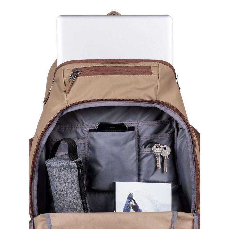 sac dos quiksilver marron pas cher espace des marques. Black Bedroom Furniture Sets. Home Design Ideas