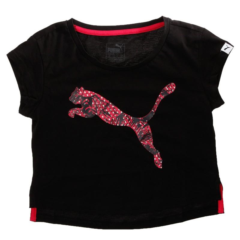 Tee shirt Court Fille Noir Puma