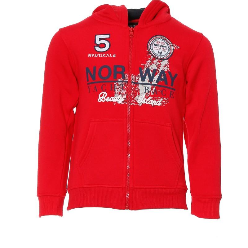 ventes spéciales meilleur prix pour meilleur prix Sweat rouge garçon Geographical Norway pas cher | Espace des Marques