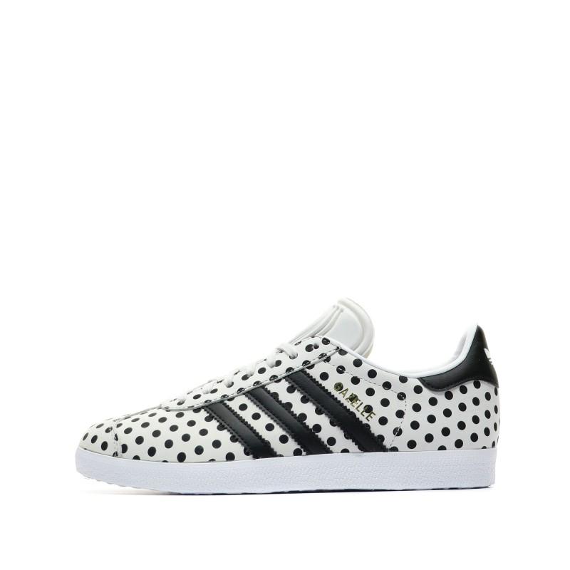 Adidas Gazelle Baskets blanc/noir femme pas cher | Espace des Marques