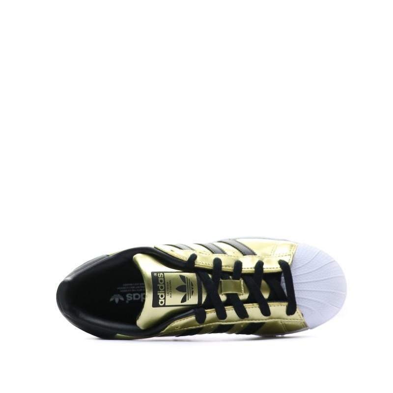basket adidas femme superstar noir et or