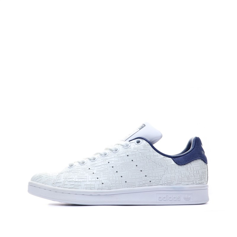 basket femme adidas stan smith blanche et bleu