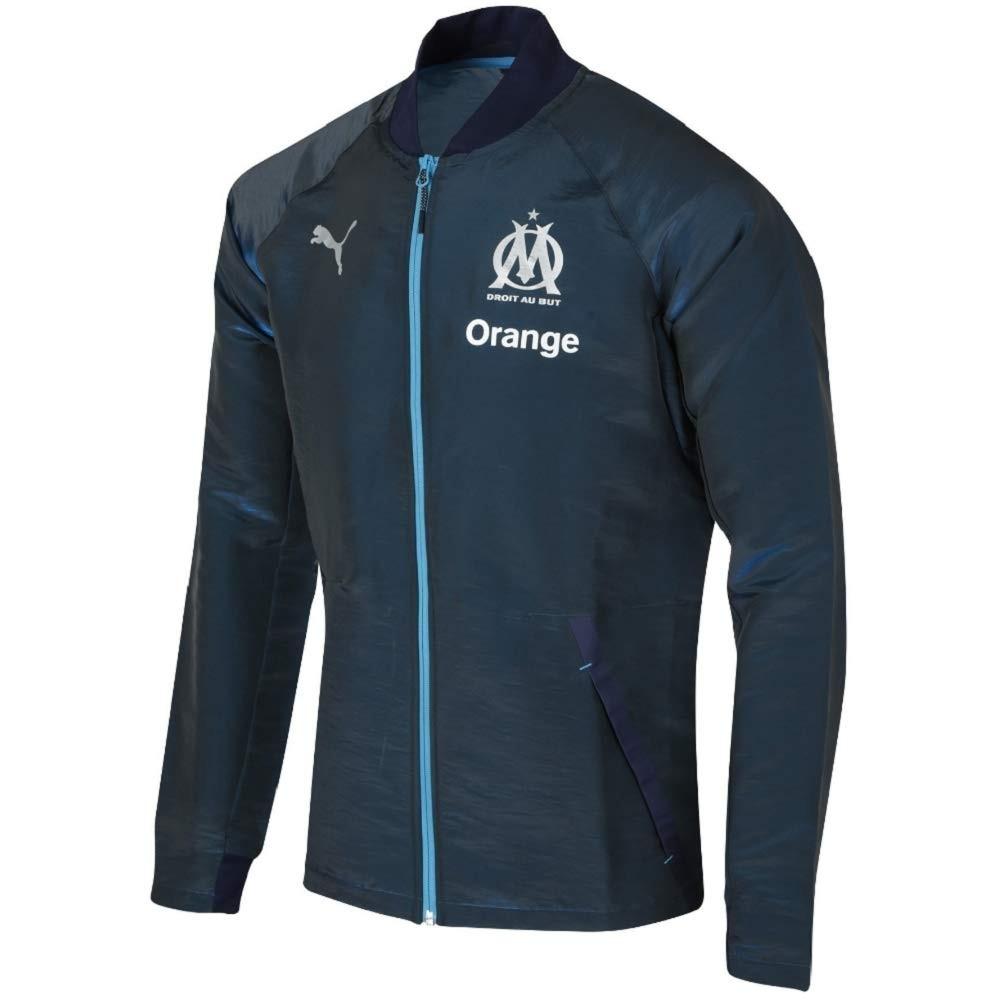 Olympique de Marseille Veste de foot bleu Homme Puma