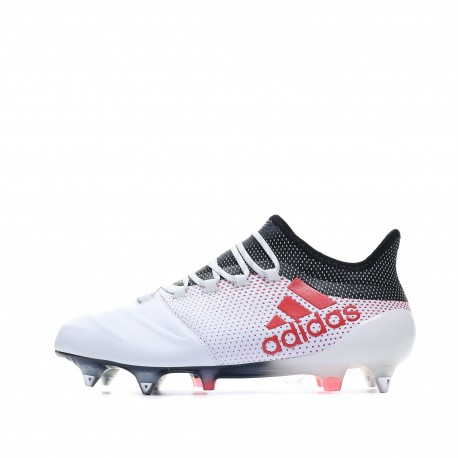 X 17.1 SG Cuir Chaussures Football Blanc Homme Adidas