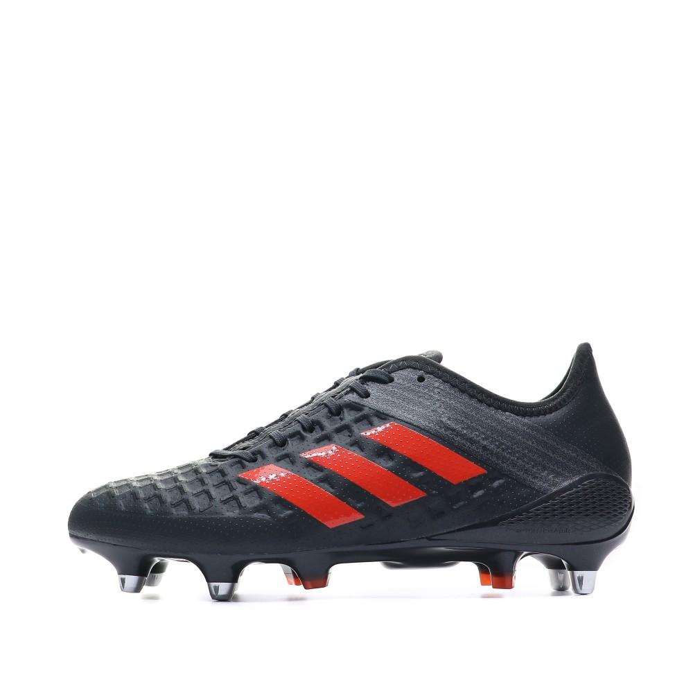 Détails sur Predator Malice SG Chaussures Rugby Noir Homme Adidas Noir