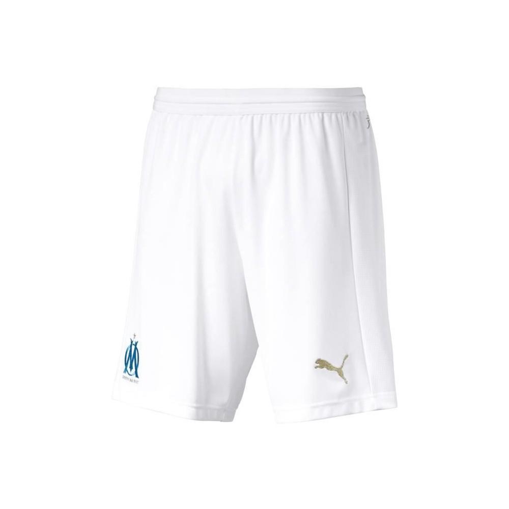 Détails sur Olympique de Marseille Short de foot Blanc Homme Puma Blanc
