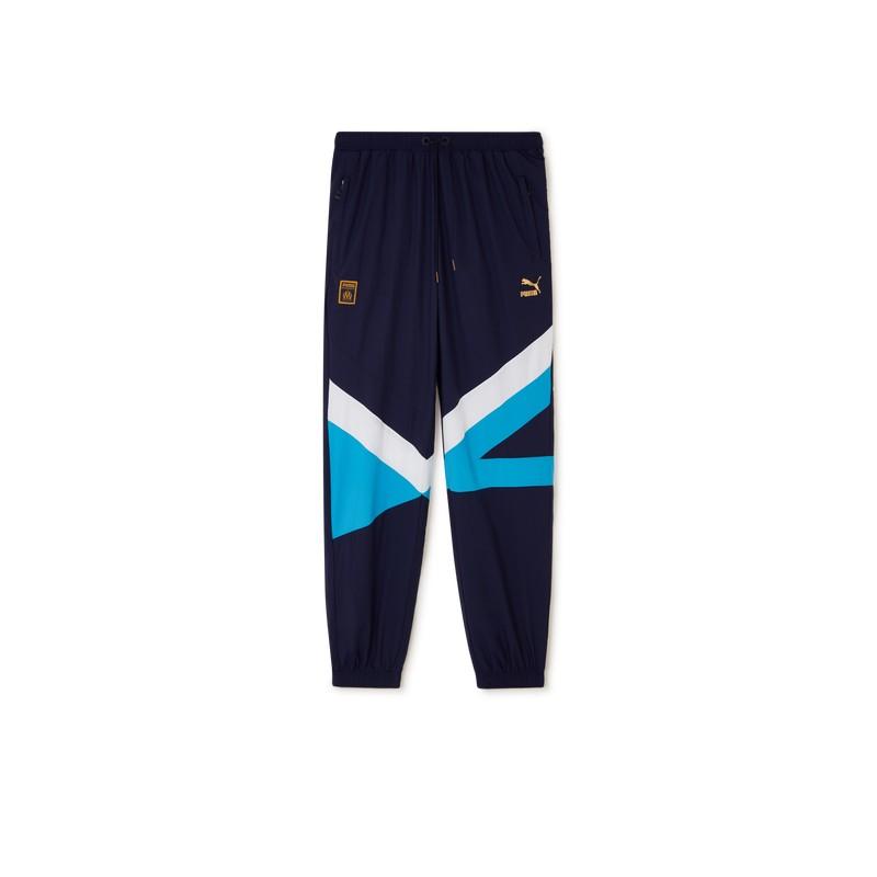 coupon code on feet shots of offer discounts Pantalon de survêtement OM bleu Puma pas cher | Espace des Marques
