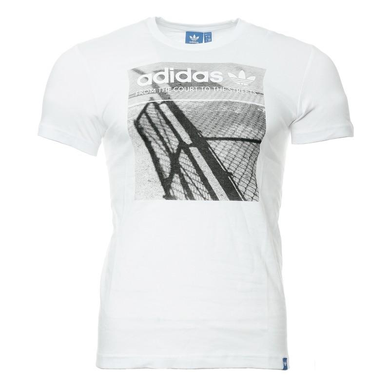 Tee shirt Adidas Homme Blanc Pas cher  Espace des Marques