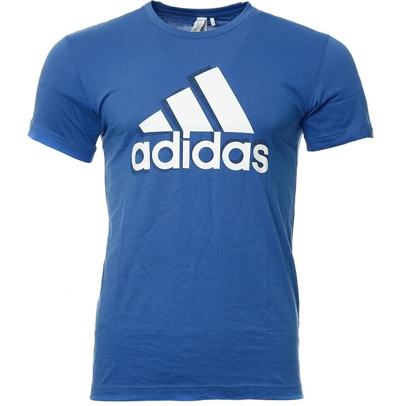 t shirt adidas homme bleu