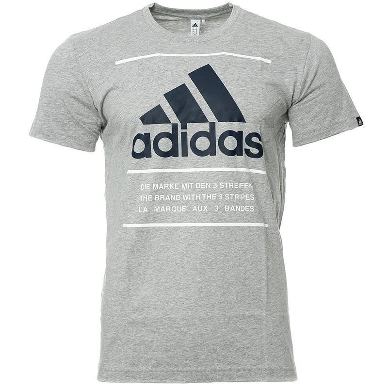 tee shirt adidas gris