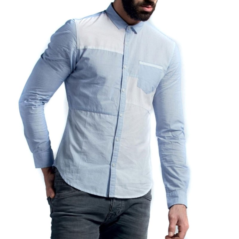 Chemise bleu homme Teddy Smith pas cher | Espace des Marques