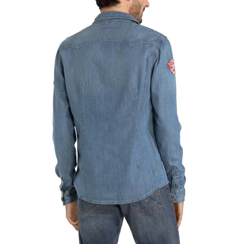 Chemise en jean homme Teddy Smith pas cher | Espace des Marques