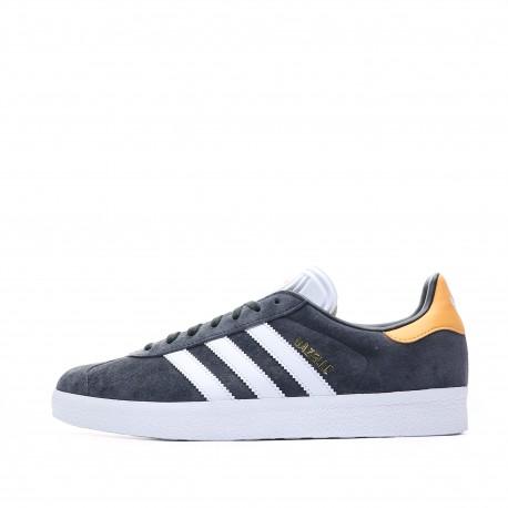 Adidas Gazelle Gris Orange Chaussures Homme Baskets CQ2807