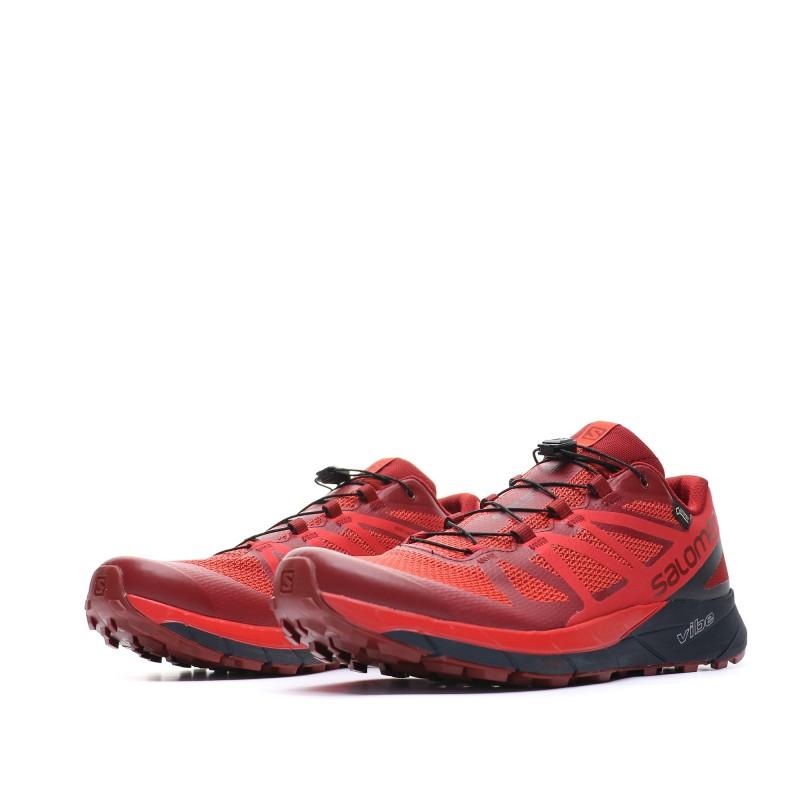 Sense Ride GTX Chaussures de trail rouge homme Salomon
