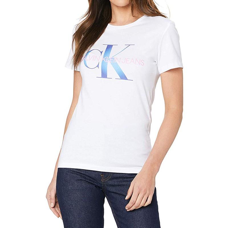 Tee-shirt femme Calvin Klein blanc pas cher