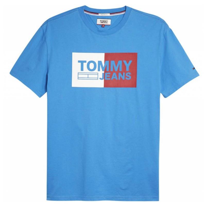 T shirt bleu homme Tommy Hilfiger pas cher | Espace des Marques