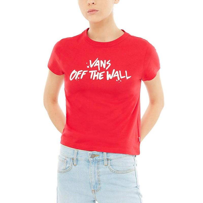 t-shirt vans rouge femme