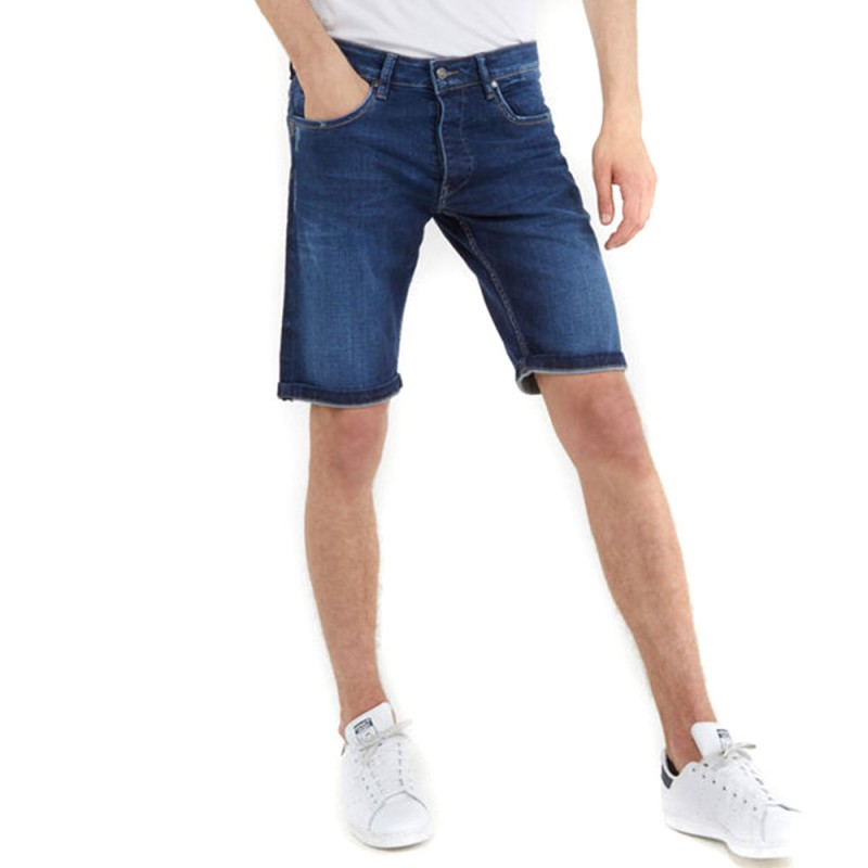 Bermuda jeans bleu foncé homme Kaporal pas cher | Espace des Marques