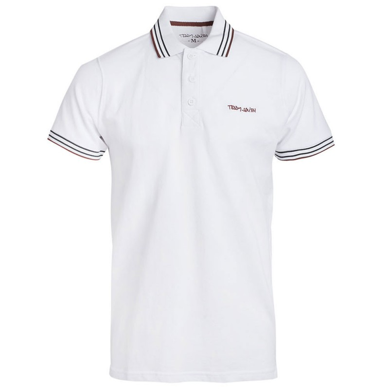 Polo Homme CherEspace Des Smith Teddy Pas Marques Blanc c3TFK1Jl