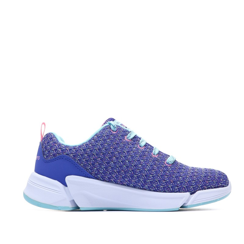 baskets-bleu-fille-skechers-triple-flex-profil-gauche
