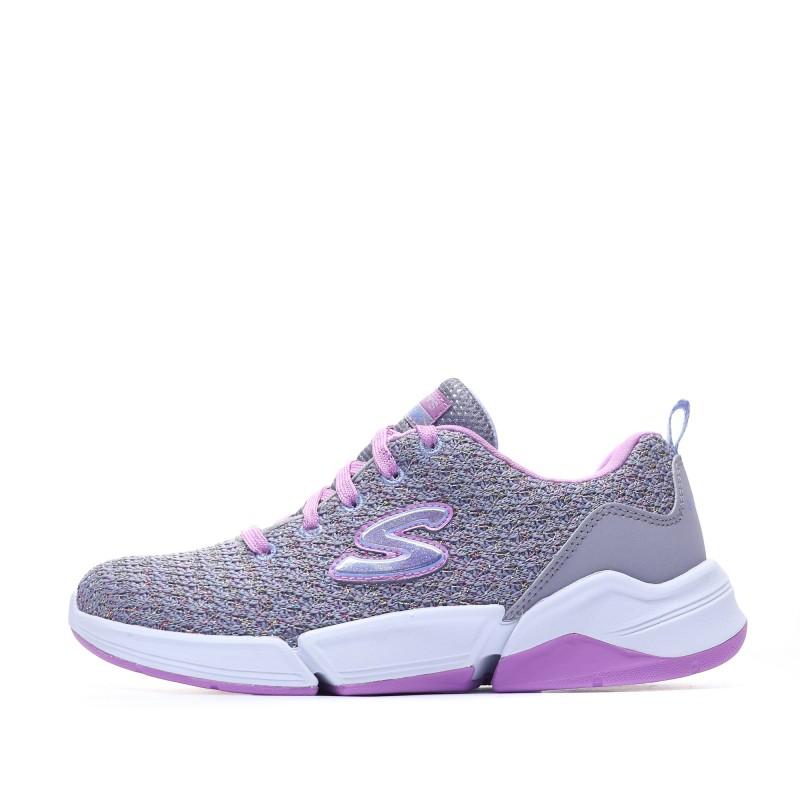 baskets Fille Violet Skechers Pas cher | Espace des Marques