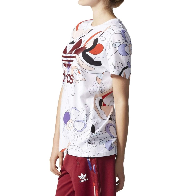 tee shirt adidas multicolore femme