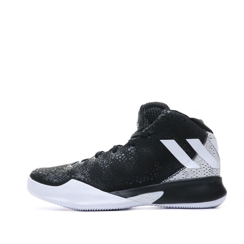 Chaussures Basketball Noir Blanc Homme Adidas pas cher | Espace des Marques