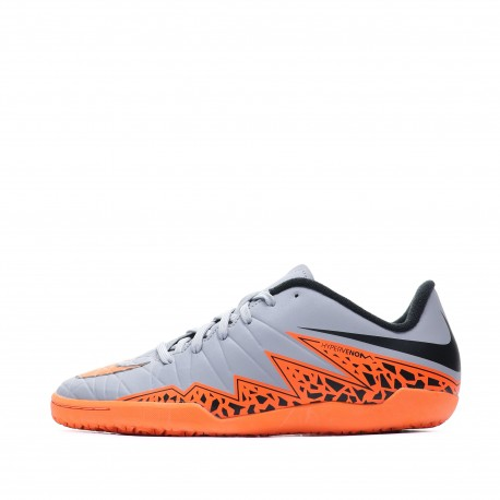 Hypervenom Phelon II IC Chaussures Futsal Garçon Gris Nike Pas cher | Espace des Marques