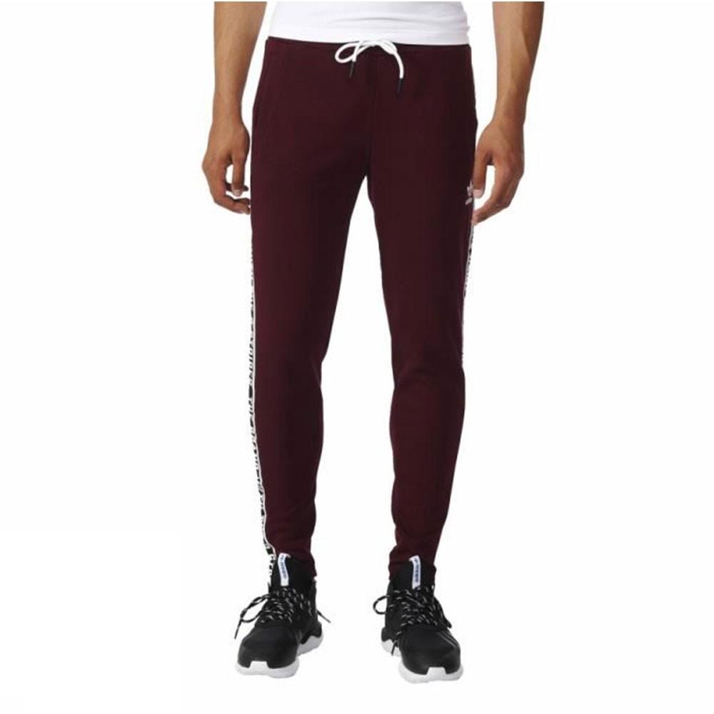new images of look for attractive price Détails sur Jogging bordeaux homme Adidas Essential Rouge