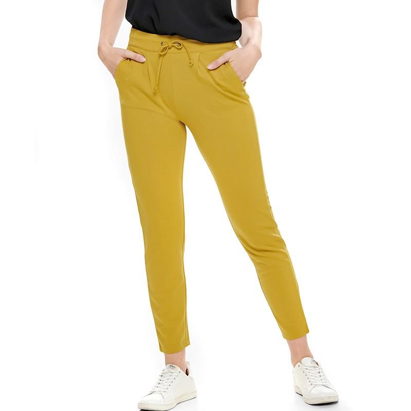 vente chaude authentique bien pas cher revendeur pantalon fluide moutarde femme pas cher   Espace des Marques