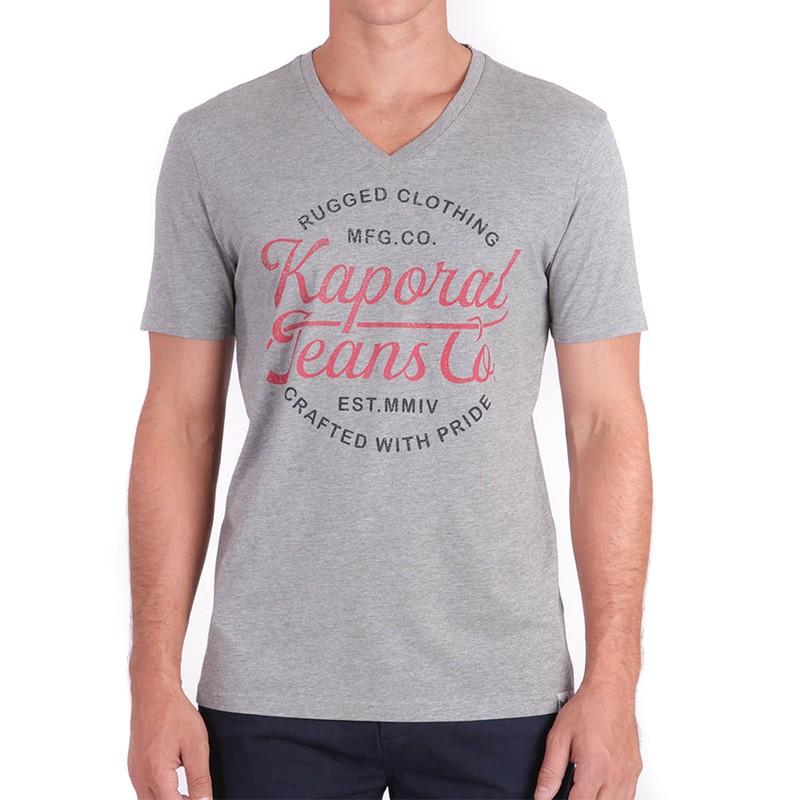 Tee Shirt Homme gris Kaporal Pas cher   Espace des Marques