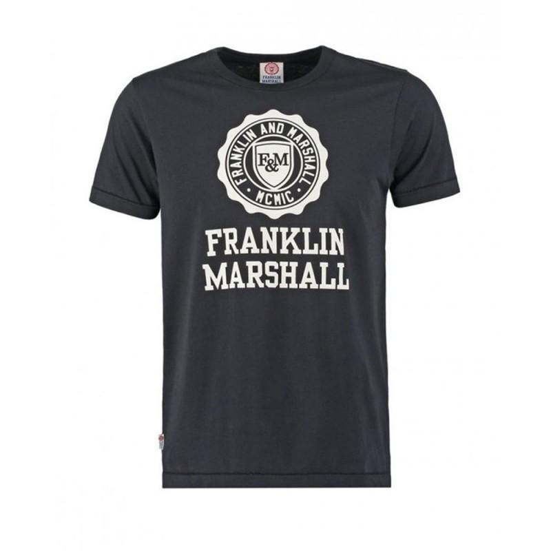 T-shirt noir enfant Franklin & Marshall Logo