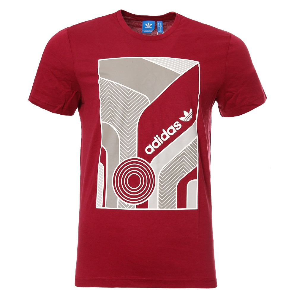 t shirt adidas hommes rouge